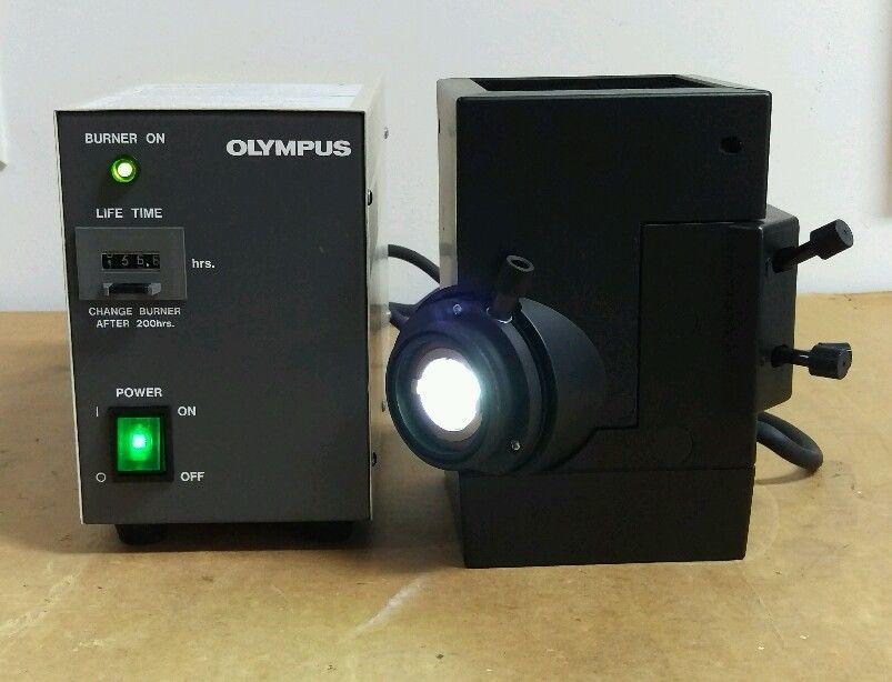 Olympus Microscope Mercury Lamphouse And Power Supply Nc