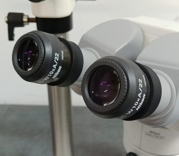 nikon microscope smz800 with tilting head and boomstand